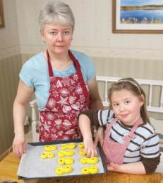 baking cookies with kids