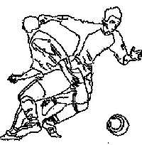footballers coloring page