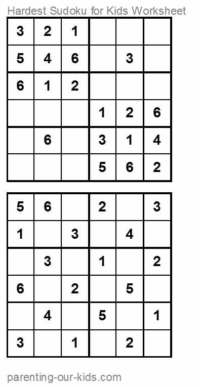 Printables Sudoku Worksheets sudoku for kids printable puzzles an easy start puzzled and their parents