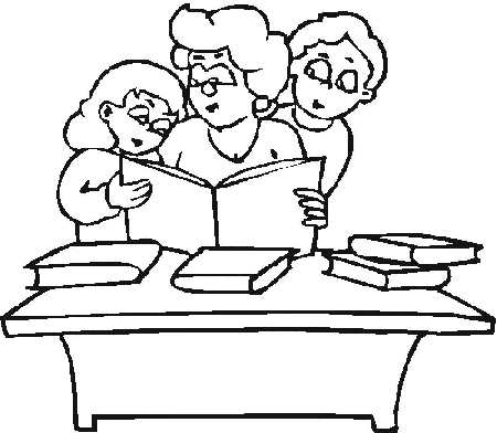 coloring pages about reading - free coloring pages for kids2