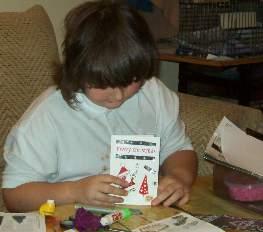kids christmas crafts - christmas cards