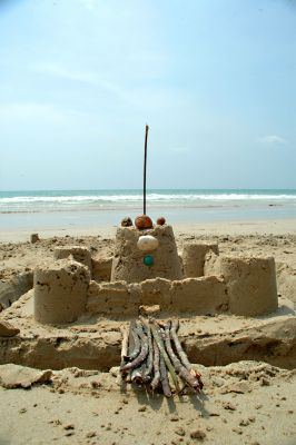 Painted Sand Castle Crafts