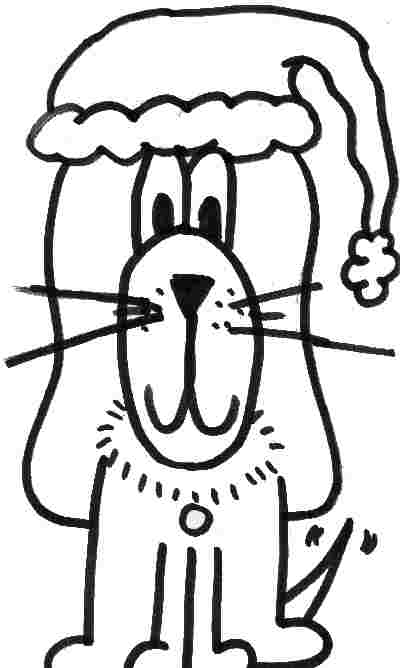 coloring pages dogs christmas - photo#32