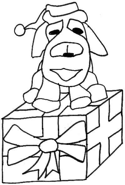 coloring pages dogs christmas - photo#25
